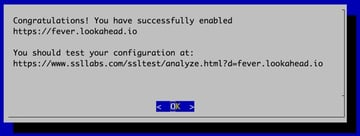 Lets Encrypt Congratulations