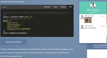 GetStreamio API Tutorial - part 2