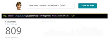 New Relic Insights How many customers in a geography