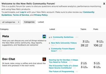 New Relic Insights Community Forum