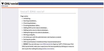 GnuSocial Installation Script