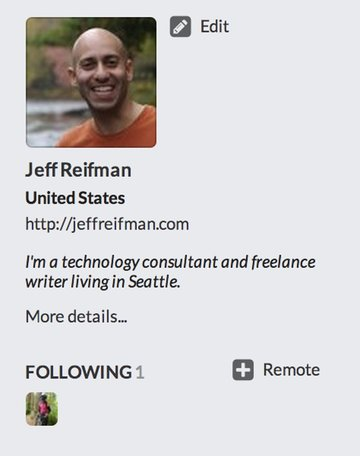 Remote Follow on the Profile Page - GnuSocial