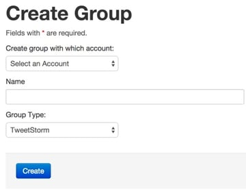 Create a Group for a Tweet Storm