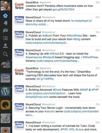 A five step tweet storm with a final public link