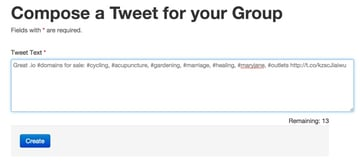 Composing a future tweet for group recurring
