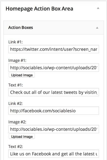 Settings for Action Boxes