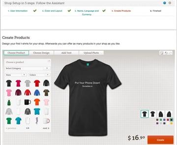 Create Design Sample at Spreadshirt