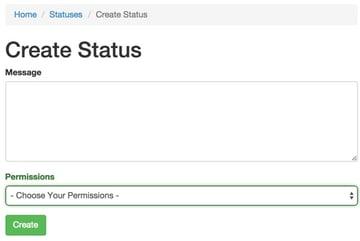 Revised Status Create Form
