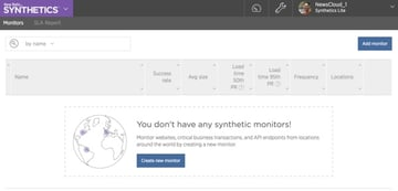 New Relic Synthetics Create a New Monitor