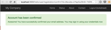 Yii2-User Sign Up Confirmation