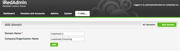 iRedMail iRedAdmin Add Domain Name