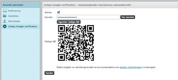Roundcube Two Factor Authentication with Google Authenticator Settings