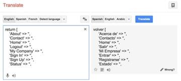 Yii2 I18n Using Google Translator to Fill Message Files