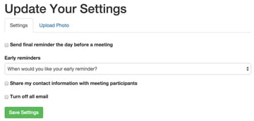 User Settings with Bootstrap Tabs
