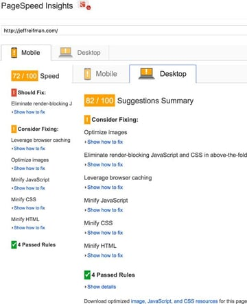 Optimizing PageSpeed - Updated Scores