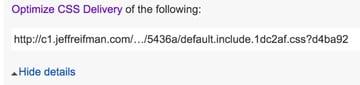 Optimizing PageSpeed