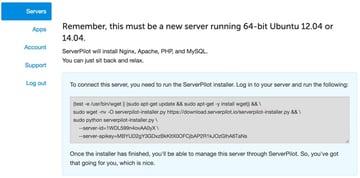 Server Pilot Installation Instructions