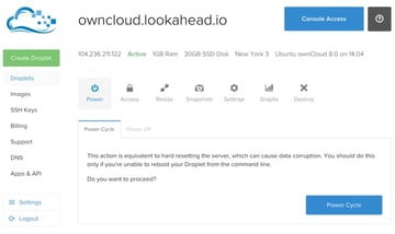 OwnCloud The Droplet in Your Dashboard