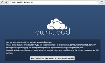 OwnCloud Logging in the first time