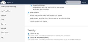 OwnCloud Security Enforce HTTPS