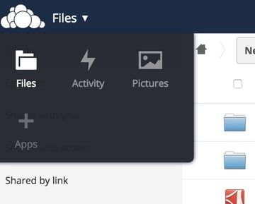 OwnCloud Files Apps Add