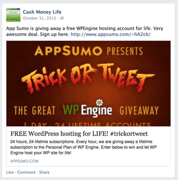 Lifetime of WPEngine WordPress Hosting