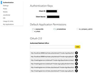 Building Your Startup OAuth - LinkedIn Dev Keys and Redirect URLs again