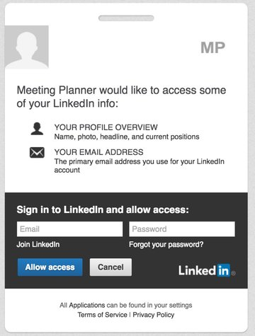 Building Your Startup OAuth - LinkedIn Permissions Page