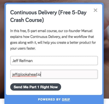 Codeship Continuous Delivery Email Course