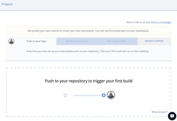Codeship Push Your Repository to Trigger Your First Build
