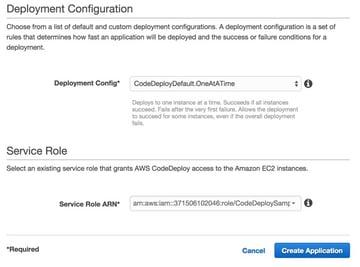 Codeship AWS Code Deploy Deployment Configuration