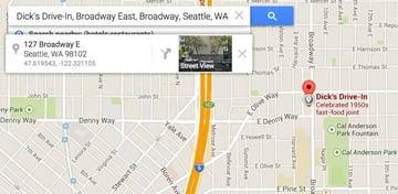 Dicks Drive In Broadway Seattle GPS in Google Maps