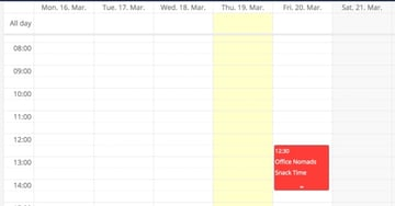 OwnCloud Week View