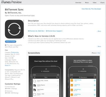 BitTorrent Sync iTunes Store iOS App