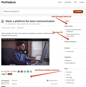Google DFP ProTools Website Advertising Inventory