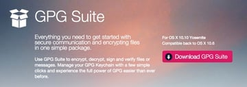 GPG Suite Home Page