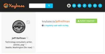Keybase My new user profile