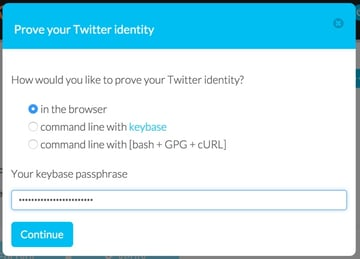 Keybase Prove Your Twitter Identity in the Browser