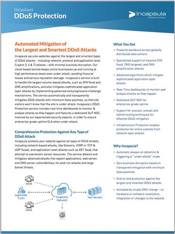 Incapsula DDoS Protection Overview Whitepaper