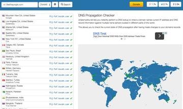 DNS Web Propagation at Whats My DNS