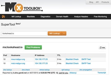 DNS Check with MX Toolbox