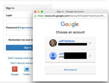 Yii2 User Hello App Sign In with Multiple Accounts