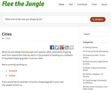 Flee the Jungle City Navigation