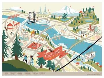 Fun Portland Map from Edward Juan