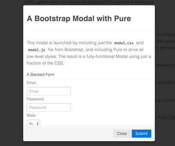 PureCSS Using Pure with Elements of Bootstrap