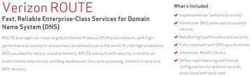 Amazon AWS Alternatives - Verizon Route DNS Offering