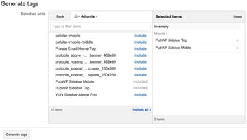 Google DFP House Ads - Generate Tags