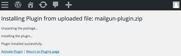 Mailgun Plugin - Activate the Plugin