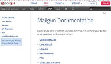 Mailgun Plugin - Mailgun Documentation and Great Language Support