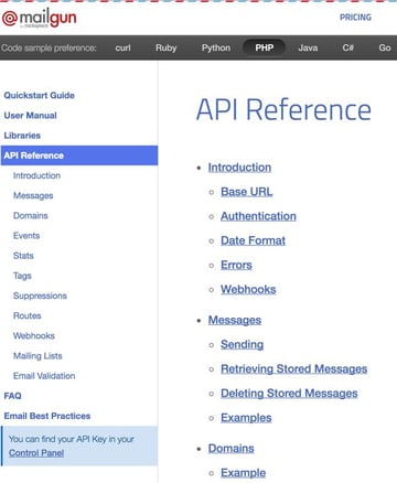 Exploring Mailgun - API Reference and Documentation